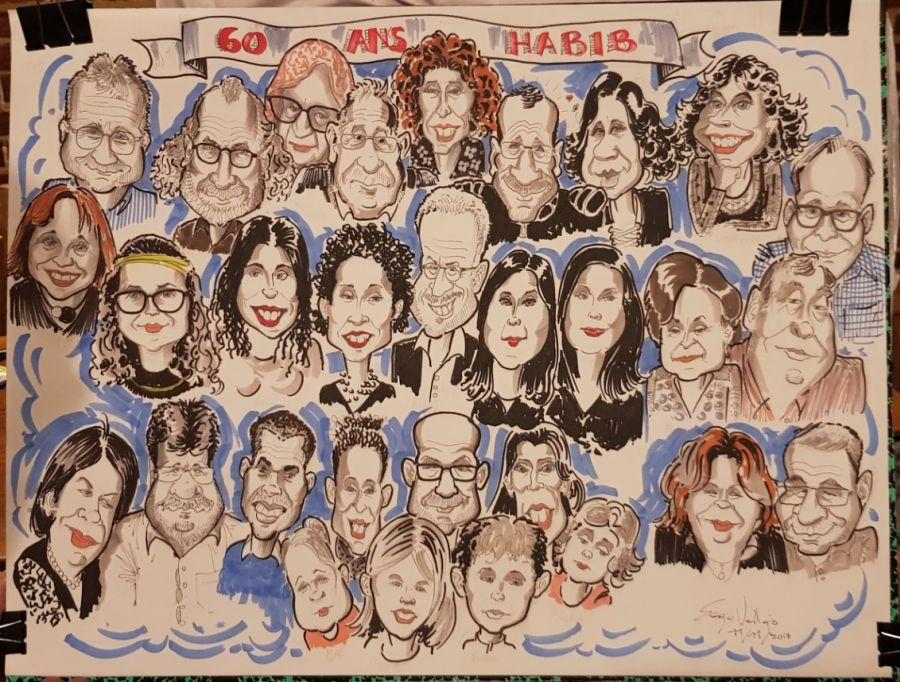 Dessin cadeau Anniversaire - La caricature - Sergio Vallejo