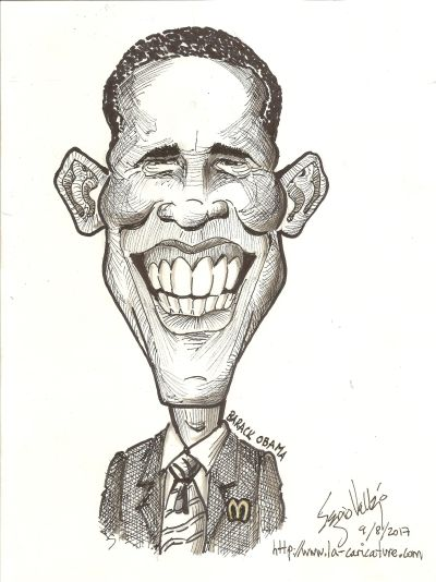 Caricature Barack Obama - la-caricature.com - Sergio Vallejo