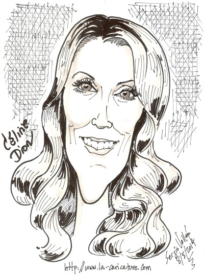 Céline Dion - La-caricature.com - Sergio Vallejo