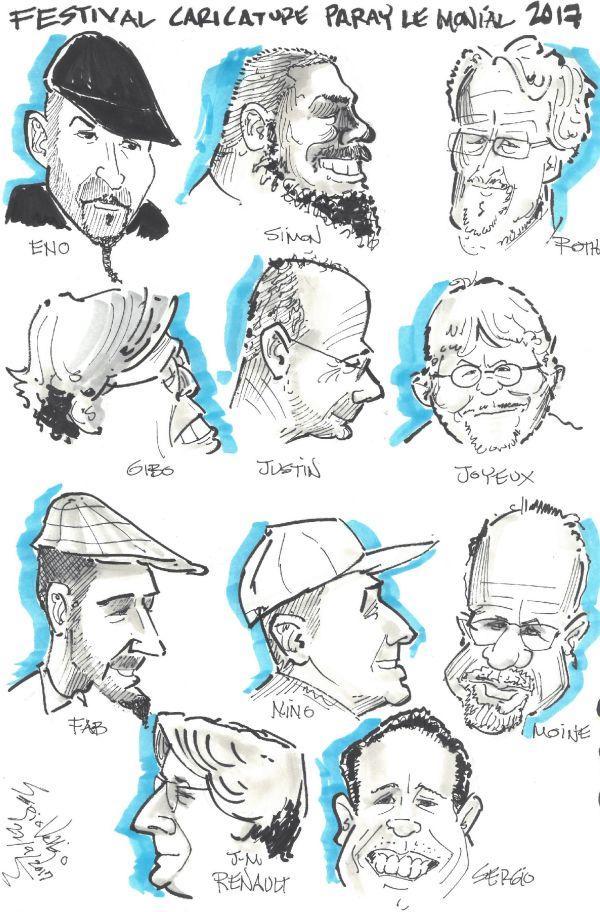 Festival caricature Paray le Monial - les caricaturistes