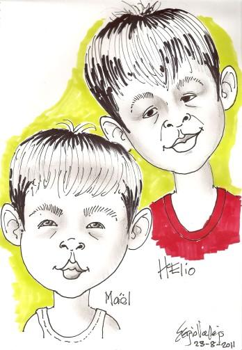 la caricature - los hermanos - Sergio Vallejo