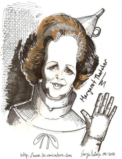 Margaret Thatcher - la-caricature.com - Sergio Vallejo