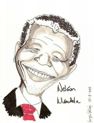 Nelson Mandela - la-caricature.com - Sergio Vallejo