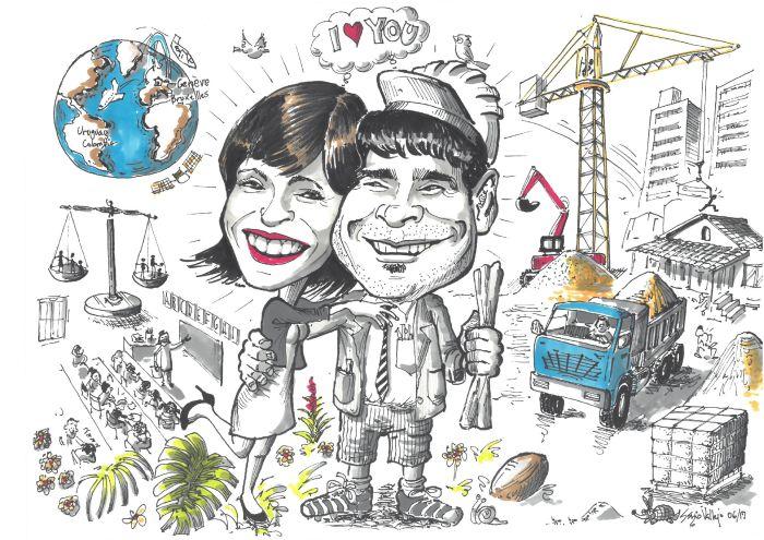 Animation mariage dessin final des mariés
