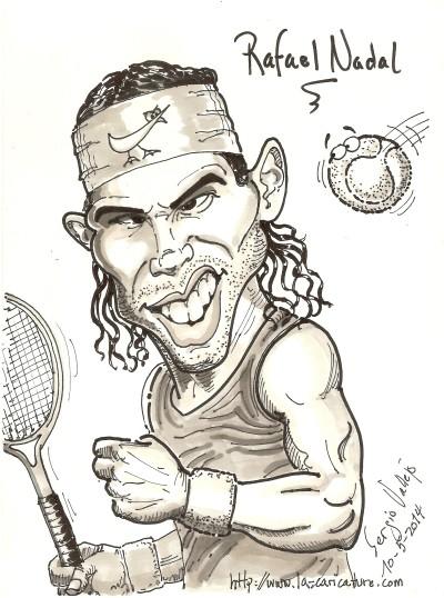 Rafael Nadal - La Caricature - Sergio Vallejo
