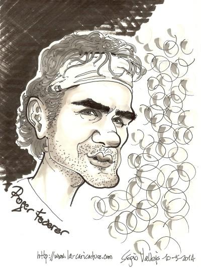 Roger Fédérer - La Caricature - Sergio Vallejo