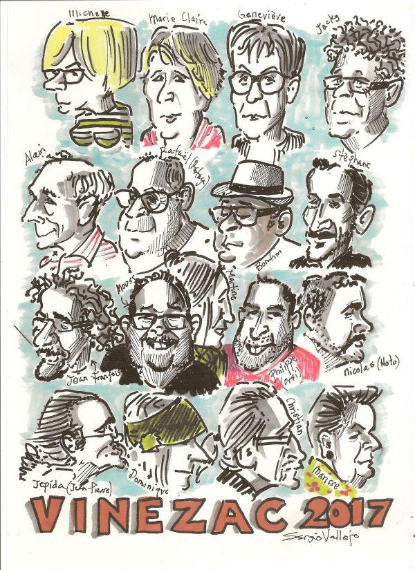 Festival Vinezac caricature et presse par Sergio Vallejo