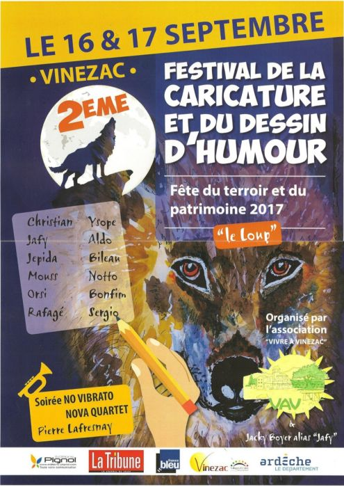 Festival caricature dessin humour Vinezac 2017