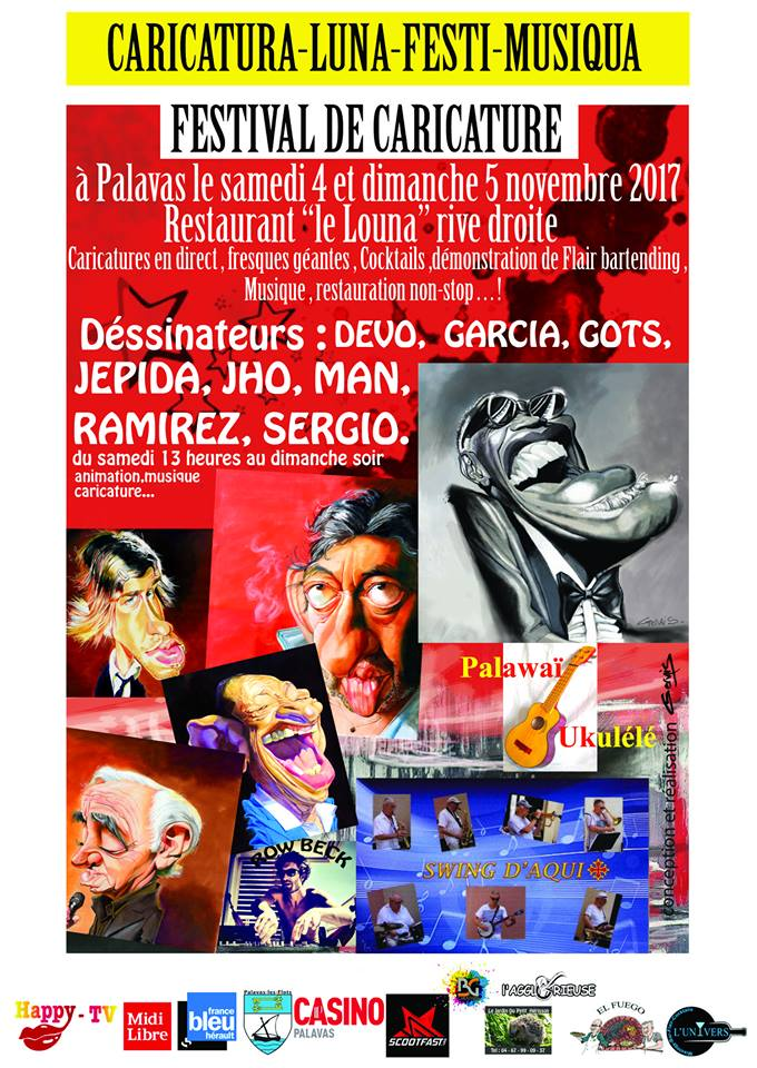 Festival Caricature Restaurant le Louna - Palavas