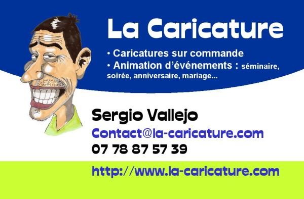 la caricature - Sergio Vallejo - Carte visite